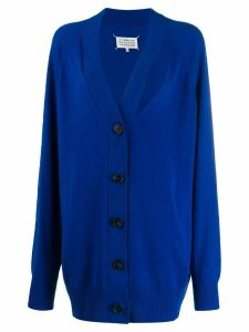 Maison Margiela oversized cut-out cardigan - Blue