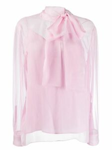 Valentino sheer pussy bow blouse - PINK