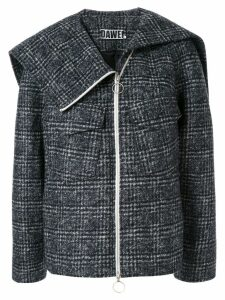 Dawei check print jacket - Grey