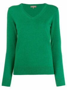 N.Peal cashmere V-neck jumper - Green
