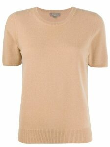 N.Peal cashmere short-sleeved top - Brown