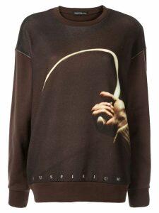 UNDERCOVER hand print sweatshirt - Brown