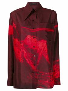 Kwaidan Editions 70's Habotai shirt - Red