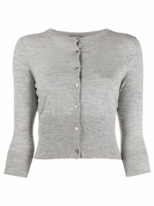 N.Peal cashmere cropped cardigan - Grey