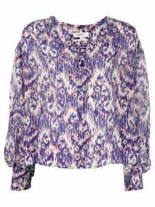 Isabel Marant Étoile all-over print blouse - Blue