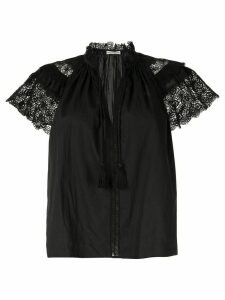 Ulla Johnson Elsie crochet-trimmed blouse - Black