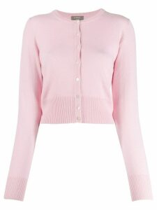 N.Peal cashmere cropped cardigan - PINK