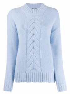 N.Peal cashmere cable-knit jumper - Blue