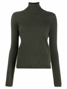 Lamberto Losani ribbed roll neck jumper - Green