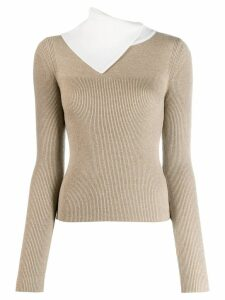 See By Chloé asymmetric layered sweater - White
