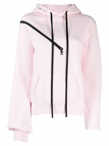 Unravel Project contrasting zip jumper - PINK