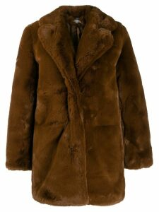Apparis Sophie mid-length coat - Brown