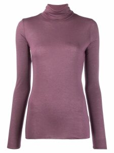 Roberto Collina roll neck sweater - PURPLE