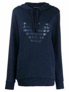 Emporio Armani branded hoodie - Blue