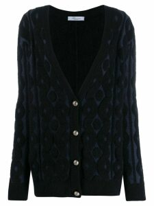 Blumarine textured pattern cardigan - Blue