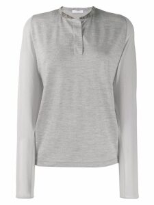 Fabiana Filippi henley panelled T-shirt - Grey