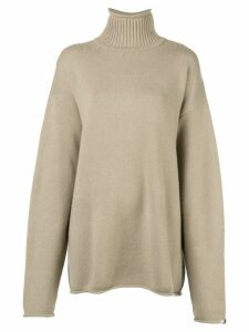 Extreme Cashmere ribbed turtle neck jumper - Brown