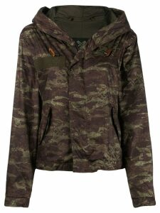 Mr & Mrs Italy camouflage print hooded jacket - Green