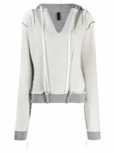 Unravel Project inside-out style hoodie - Grey