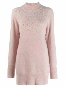 Blumarine rhinestone embellished jumper - PINK