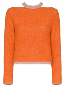 Eckhaus Latta knitted slim jumper - ORANGE