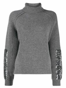 Markus Lupfer sequinned roll neck jumper - Grey