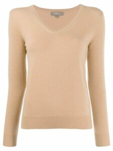 N.Peal v-neck jumper - Brown