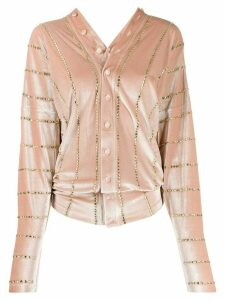 Y/Project velvet embellished top - NEUTRALS