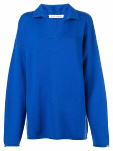Extreme Cashmere open collar sweater - Blue
