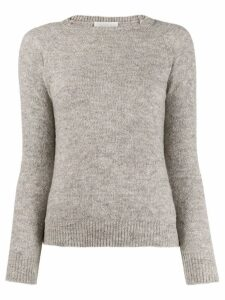 Zanone ribbed neck jumper - Grey