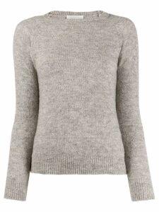 Zanone ribbed neck jumper - Grey