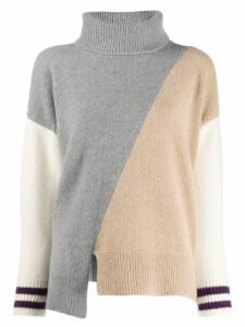 Zanone colour-block jumper - Grey
