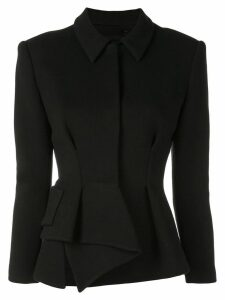 Proenza Schouler Asymmetrical Draped Jersey Suiting Jacket - Black