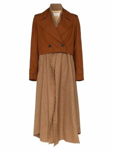 Chloé checked shirt-style coat - Brown