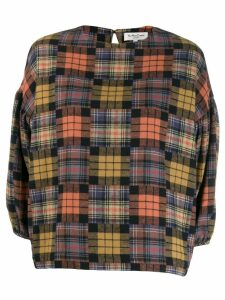 YMC patchwork plaid blouse - ORANGE