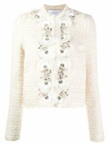 Giambattista Valli embellished tweed jacket - NEUTRALS