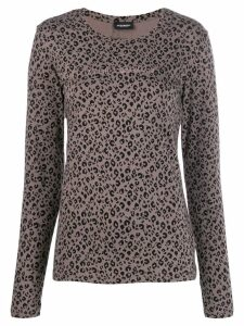 Emporio Armani leopard print sweatshirt - Brown