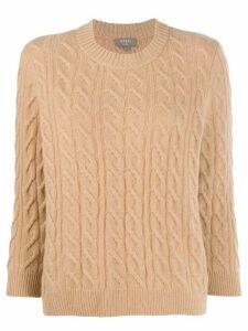 N.Peal boxy round neck jumper - NEUTRALS