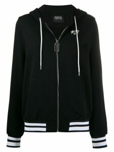 Markus Lupfer Aliza jewel bee zip-up hoodie - Black