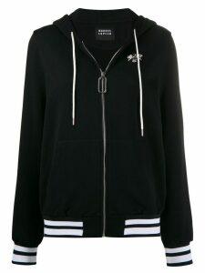 Markus Lupfer Aliza jewel bee zip-up hoodie - Black