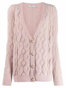 Blumarine textured pattern cardigan - PINK