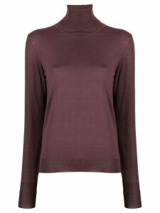 Roberto Collina roll neck knitted top - PURPLE