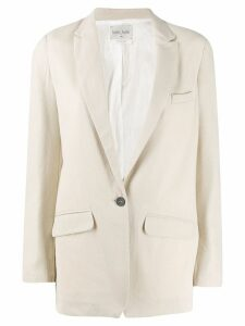Forte Forte single breasted blazer jacket - NEUTRALS