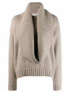 Monse plunge-neck knit sweater - Grey
