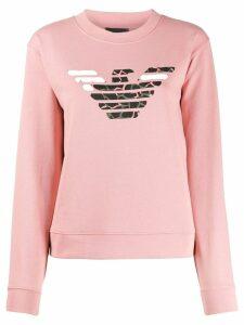 Emporio Armani branded sweatshirt - PINK