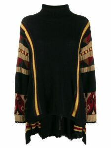Etro jacquard destroyed-effect jumper - Black