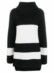 Joseph stripe ribbed knit jumper - Black