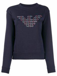 Emporio Armani branded sweatshirt - Blue