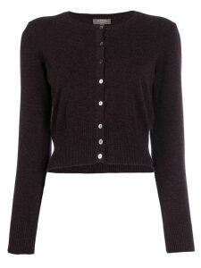 N.Peal cropped cardigan - PURPLE