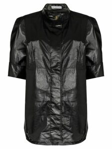 Rejina Pyo oversized leather-look shirt - Black